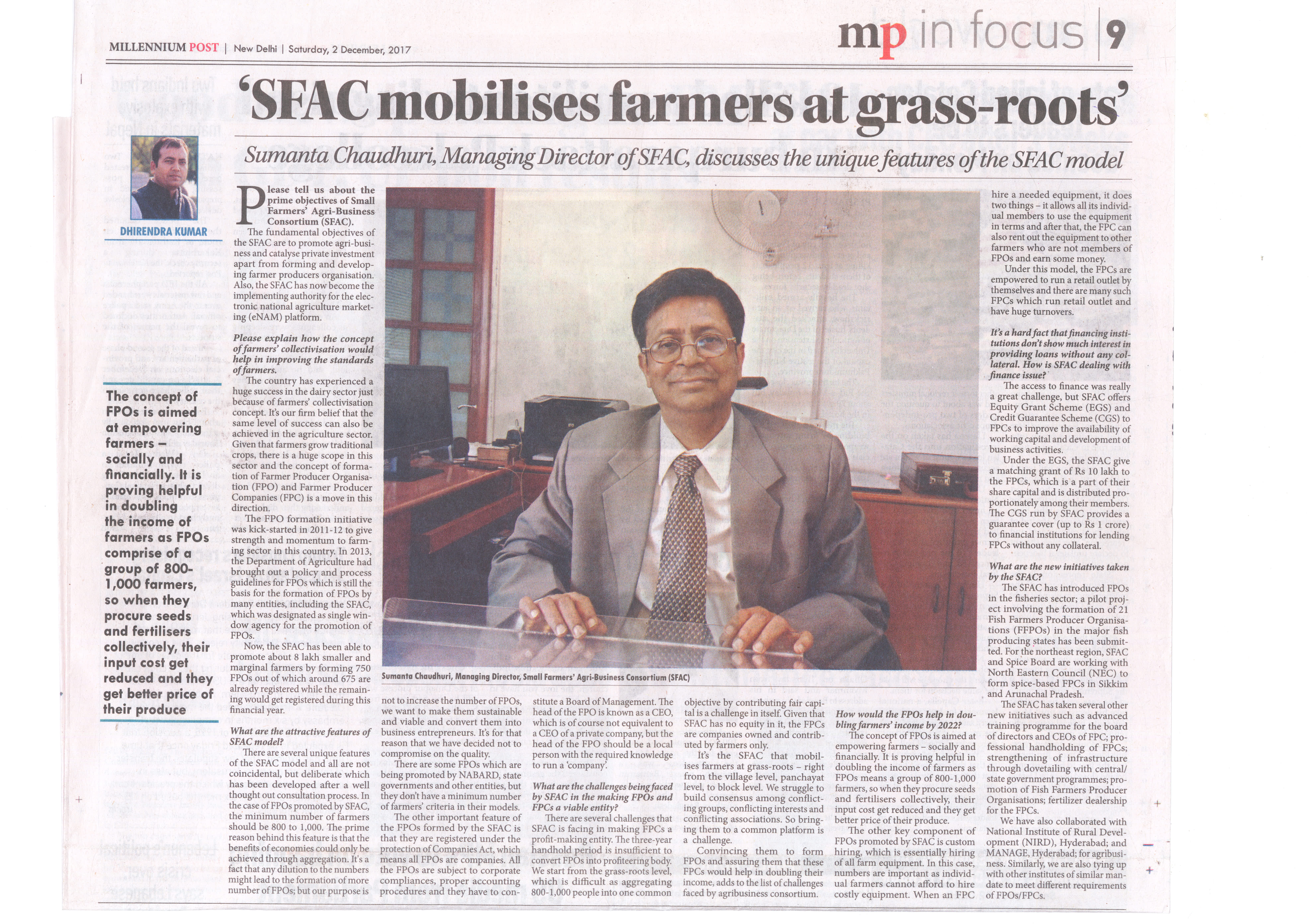 SFAC India, Agriculture Financing, Agriculture Bank loans